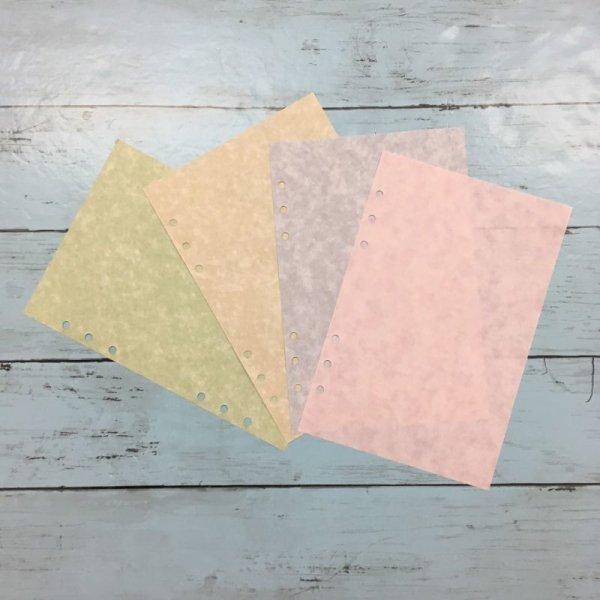 画像1: 【135】【セット】リフィル マーブル柄4色各10枚セット(A5サイズ) (1)